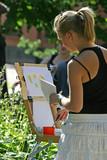girl draws - 1 poster