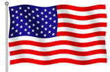 united states of america flag poster