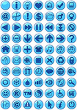 web icons in blue poster