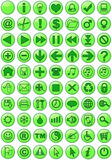 web icons in green poster