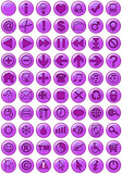 web icons in purple poster
