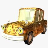 toon car safari poster
