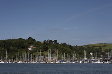 view towards kingswear marina