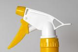 yellow-white spray nozzle poster