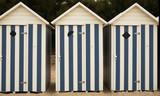 vacances à la plage - cabine de plage poster