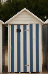 vacances à la plage - cabine de plage
