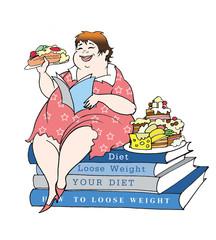 sitting on a diet