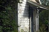time worn garden house poster