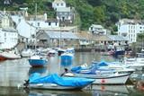 cornish fishing village poster