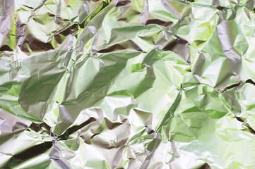 wrinkled foil