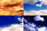 different sky backgrounds poster