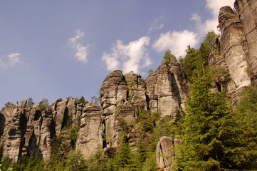 rock cliffs