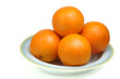 oranges in plate