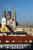 roof tops prague poster