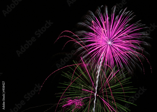 fireworks at night