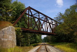 abandoned railroad trestle