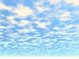 soft clouds. illustration poster