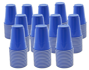 supply of plastic cups