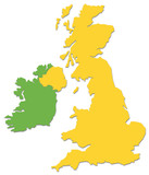 uk and ireland outline poster
