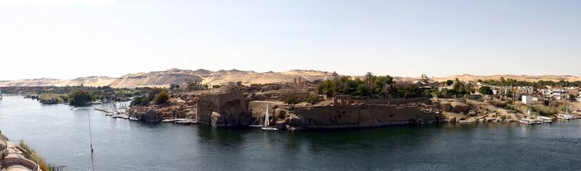 le nil au sud de l'egypte - assouan