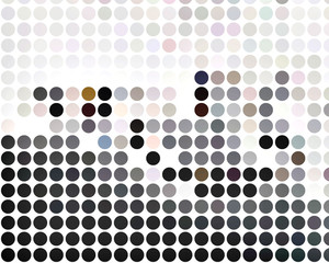 color composition in dots