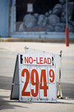 gas sign no lead poster