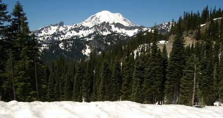 mt rainier from east