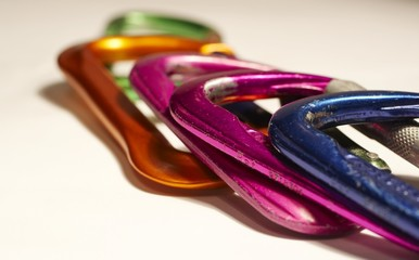 colored carabiner