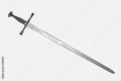 Leinwanddruck Bild steel sword