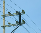 concrete electric post poster