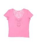 pink female t-shirt poster