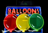 neon sign for balloons poster