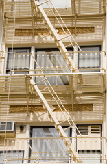 stock photo of a fire escape on historic building