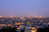 dusk over paris - wide panoramics poster