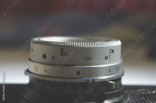 old lens close-up