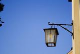 lantern on blue sky poster