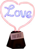 love for sale with sticker poster