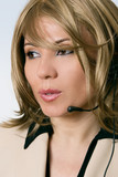 female help desk operator poster