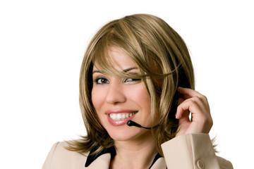 telesales or help desk operator