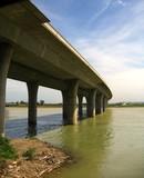 elevated highway bridge poster