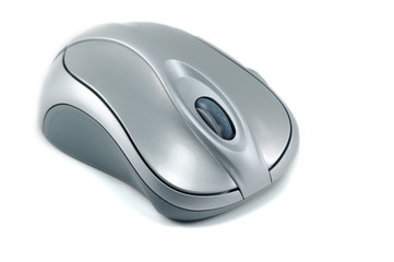 optical silver computer mouse