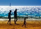 family on the beach - Fine Art prints