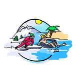 pictogramme-vacances poster