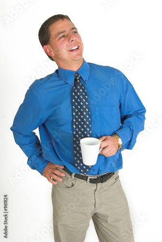 business man on coffee break