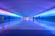 Leinwanddruck Bild - airport tunnel glow