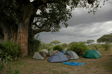stormy camping