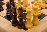 summit on chessboard poster