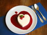 heart dessert poster