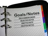 executive diary / organizer closeup poster
