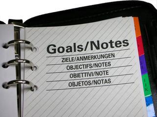 executive diary / organizer closeup